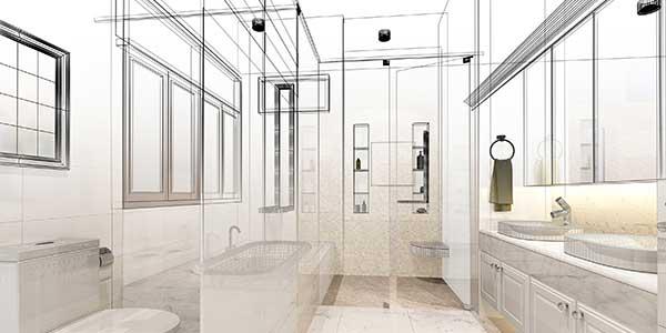 Plan 3D salle de bain