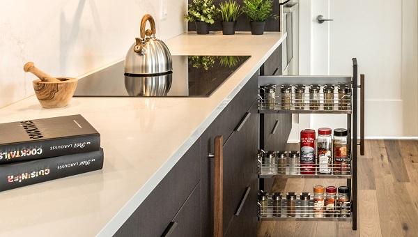 cuisine optimis e les rangements indispensables broder. Black Bedroom Furniture Sets. Home Design Ideas