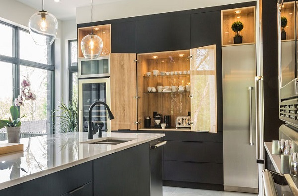 Coin café dans une cuisine moderne